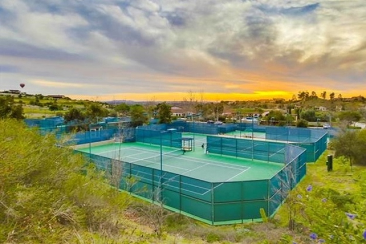 Santaluz Real Estate tennis courts