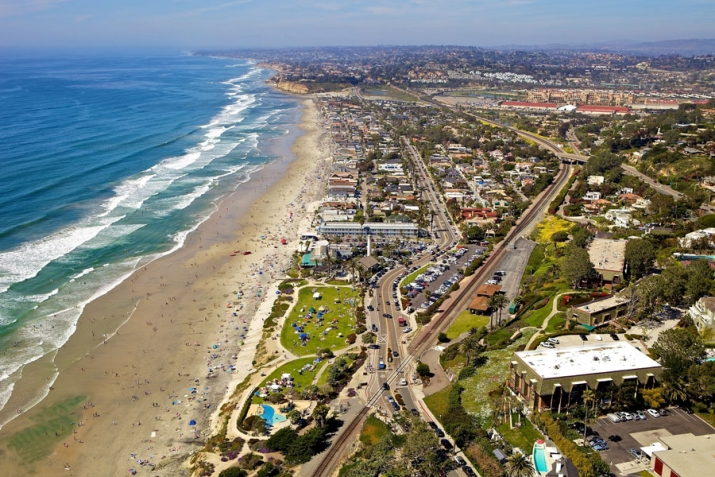 Del Mar Real Estate Powerhouse aerial