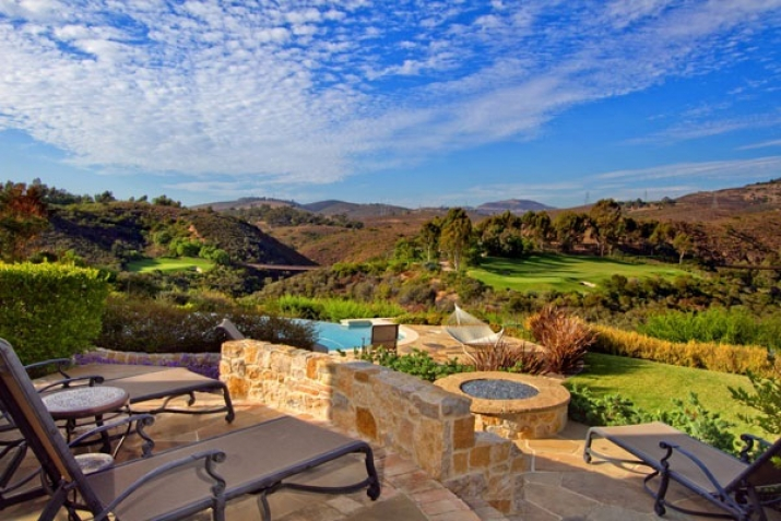 Rancho Santa Fe Real Estate backyard view