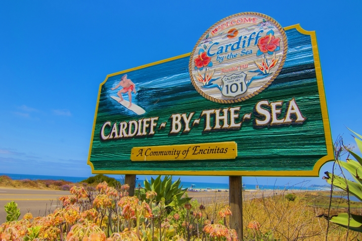 Cardiff By The Sea Real Estate welcome sign