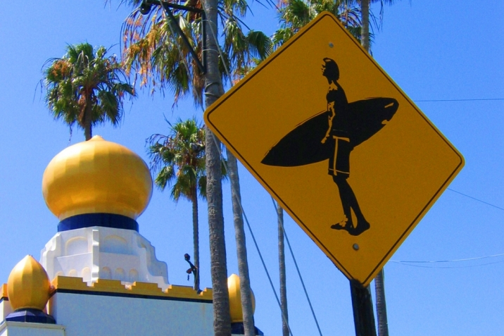 Encinitas Real Estate surfer crossing