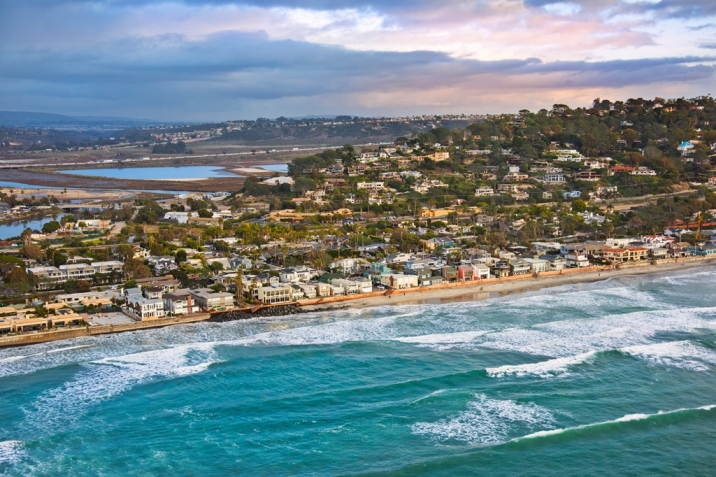Del Mar Real Estate Beach Colony Aerial