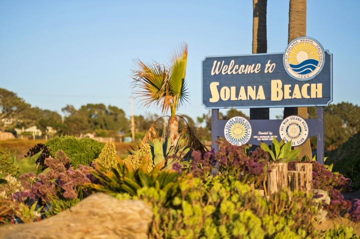 Solana Beach Real Estate welcome sign
