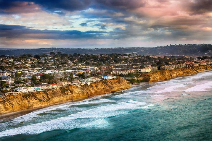 Solana Beach Real Estate bluff aerial