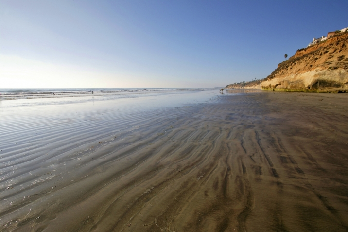 Solana Beach Real Estate beach lowtide