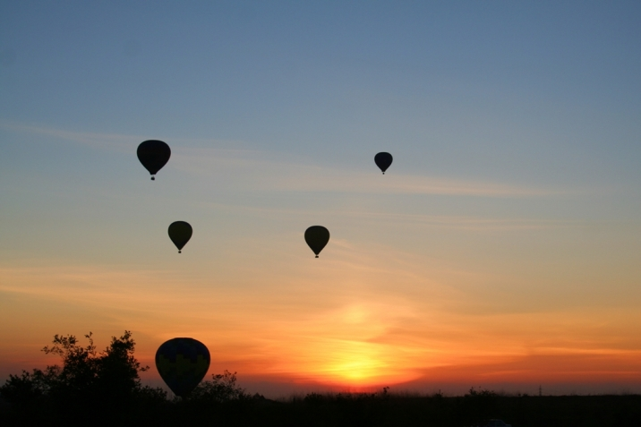 Carmel Valley Real Estate Hot Air Balloons at sunset
